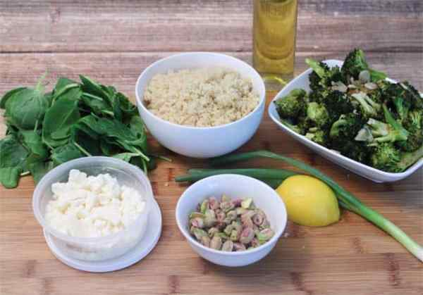 Quinoa and Roasted Broccoli Salad ingredients|2CookinMamas