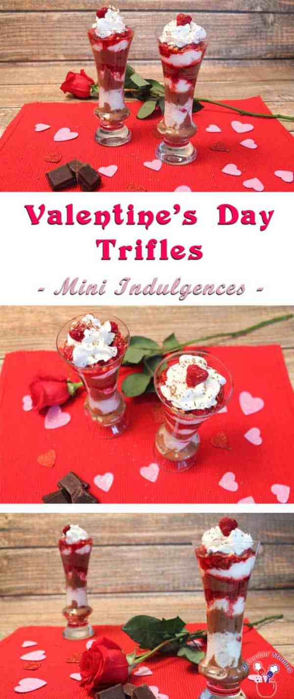 Valentine Trifle | 2 Cookin Mamas Deliciously decadent with dark chocolate & raspberries, this Valentine trifle is the perfect indulgence for a healthy Valentine's Day dessert. #recipe