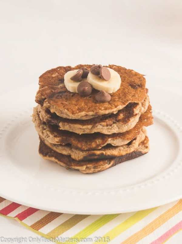 Oatmeal Chocolate Chip Cookie Pancakes from Only Taste Matters