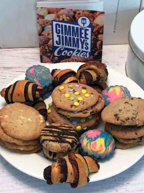 Gimme Jimmys Cookies plated