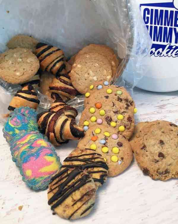 Gimme Jimmys Cookies spilling out|2CookinMamas