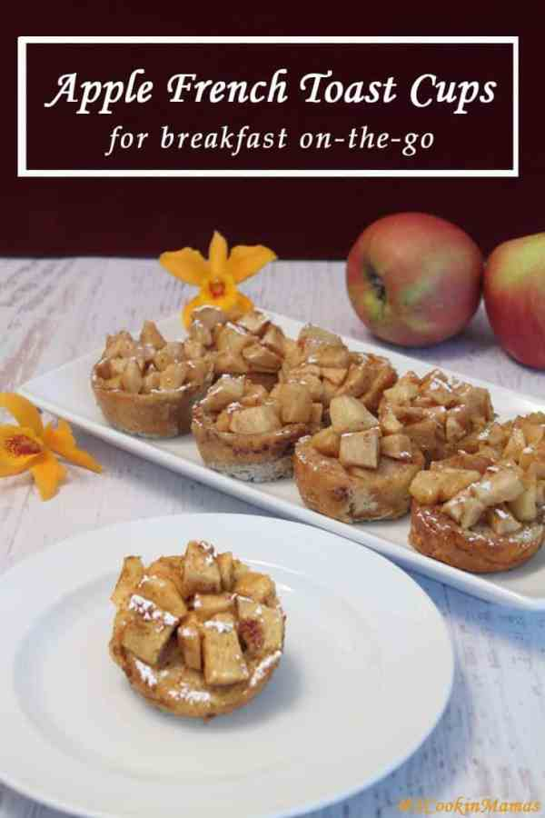 Apple French Toast Cups | 2CookinMamas Easy to make French Toast in muffin form for on-the-go breakfasts. Of course the cinnamon apple topping makes it a sweet start to the day.