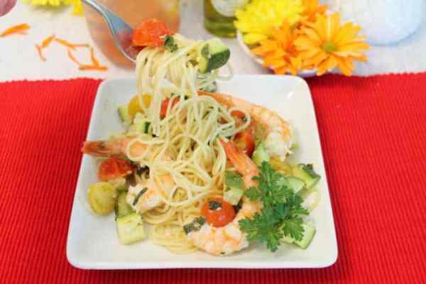 Grilled Shrimp Foil Packets bite | 2 Cookin Mamas