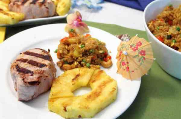 Pina Colada Grilled Pork Chops 2 served | 2 Cookin Mamas