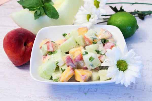 Honeydew Fruit Salad 4 | 2 Cookin Mamas