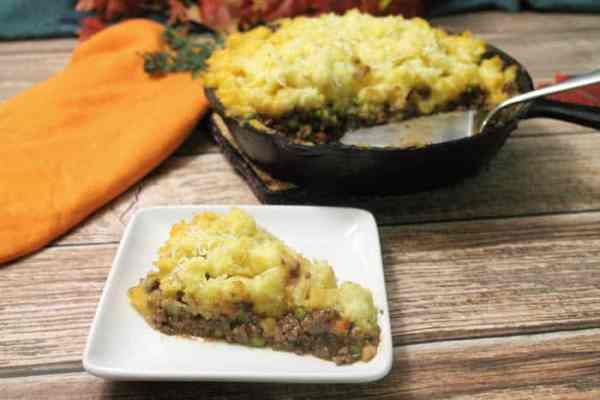 One Skillet Shepherds Pie plated | 2 Cookin Mamas