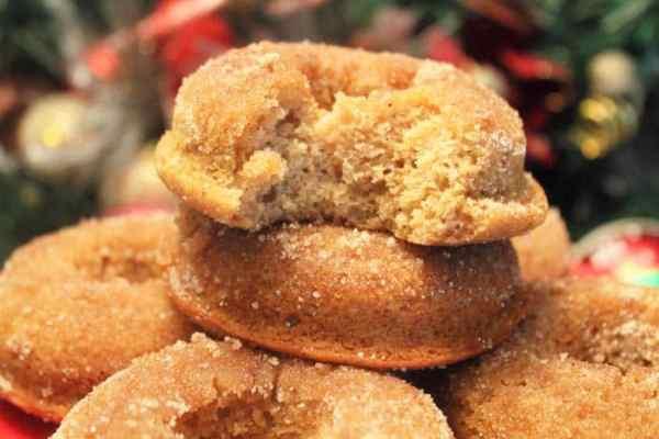 Baked Apple Cider Doughnuts closeup | 2 Cookin Mamas