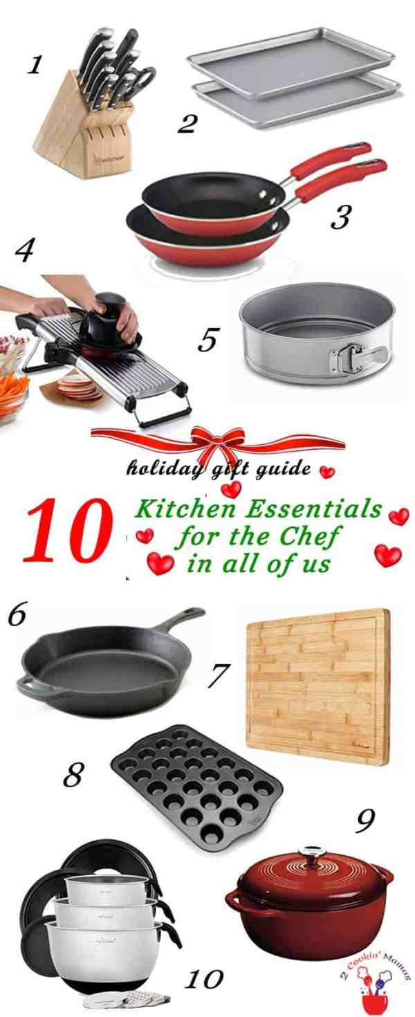 Holiday Gift Guide Kitchen Essentials 2016 | 2 Cookin Mamas Kitchen Essentials for the Chef in all of us