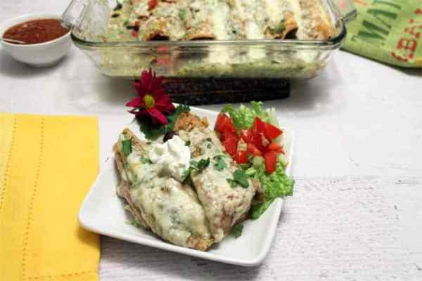 Pork Enchiladas dinner | 2 Cookin Mamas