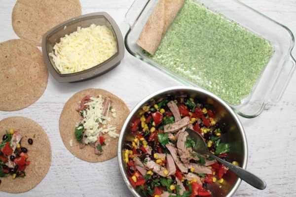 Pork Enchiladas prep | 2 Cookin Mamas