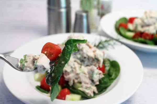 Rosemary Chicken Salad bite | 2 Cookin Mamas
