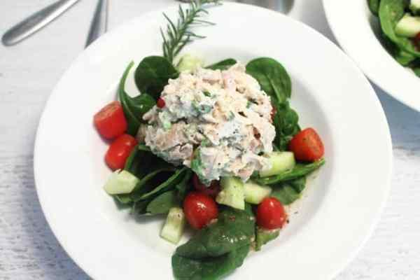 Rosemary Chicken Salad closeup | 2 Cookin Mamas