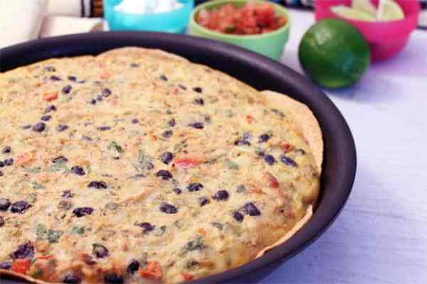 Mexican Frittata closeup | 2 Cookin Mamas