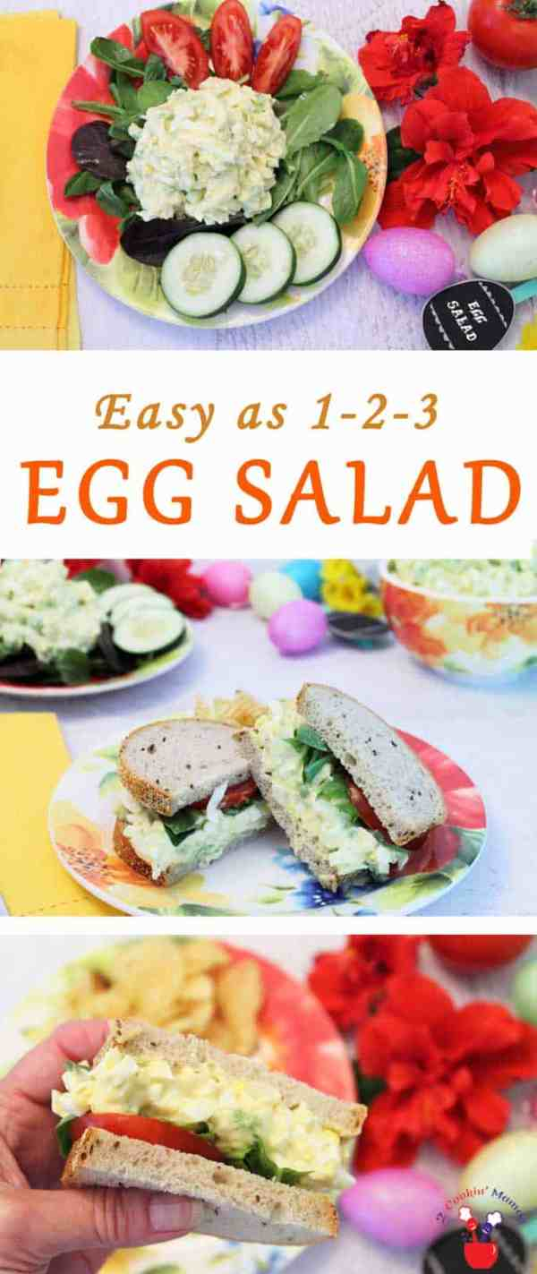 Egg Salad | 2 Cookin Mamas This egg salad recipe is so easy to make & so delicious!. Hard-boiled eggs are tossed with celery, onion & mayo to make the perfect sandwich or luncheon salad.