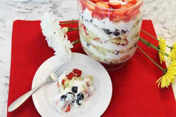 Berries and Cream Trifle serving | 2 Cookin Mamas