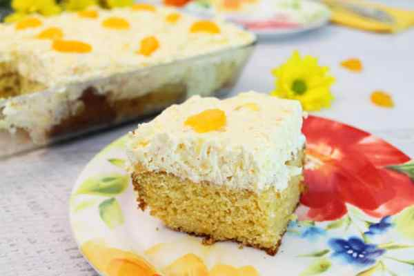 Mandarin Orange Cake 5 | 2 Cookin Mamas