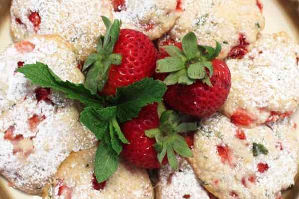 Strawberry Mint Cookies 9 | 2 Cookin Mamas