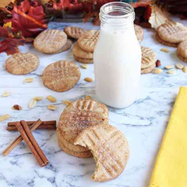 Peanut Butter Snickerdoodles square 2 | 2 Cookin Mamas