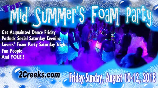 summer foam party, swingers, clothing optional, minnesota