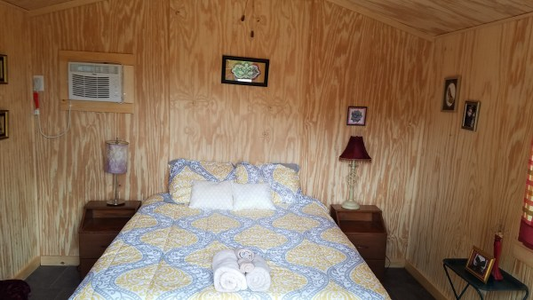 Clothing optional campground cabin