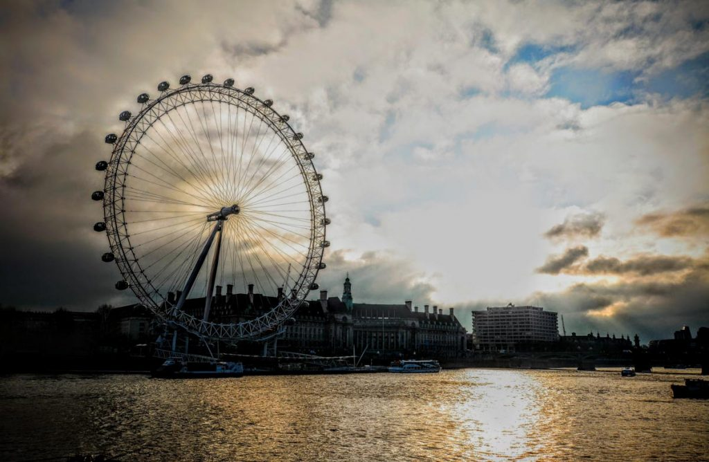 London Eye Tramonto