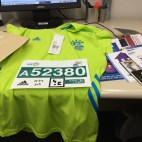 Bib and Shirt TLV Half Marathon