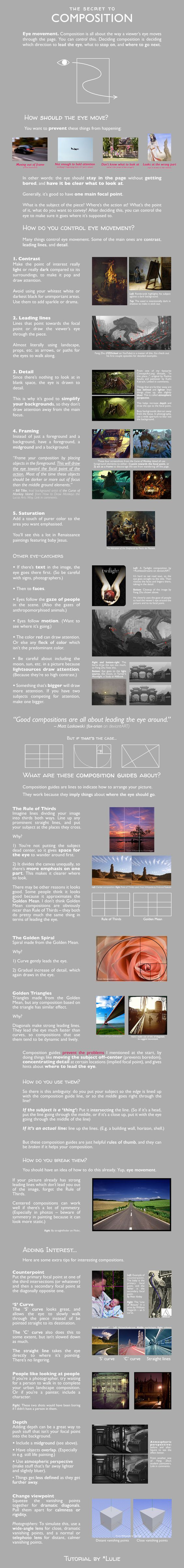 The Secret to Composition (Infographic)