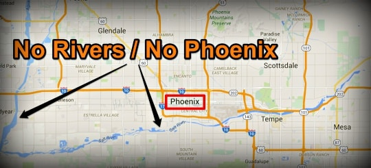 Phoenix Map - Pointing Out Rivers