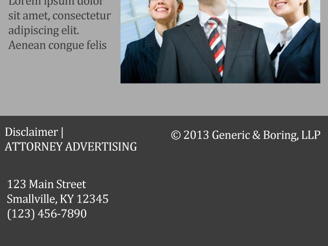 Law Firm Website Ethics Compliance Attorney Advertising Disclaimer