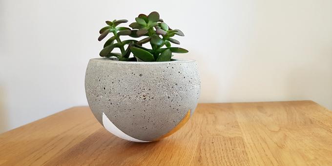 le cache pot diy en beton creatif