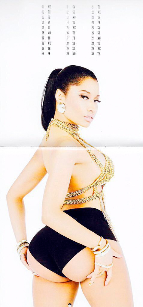 nicki calender 04 Thirst Trap: Nicki Minaj's 2015 Calendar
