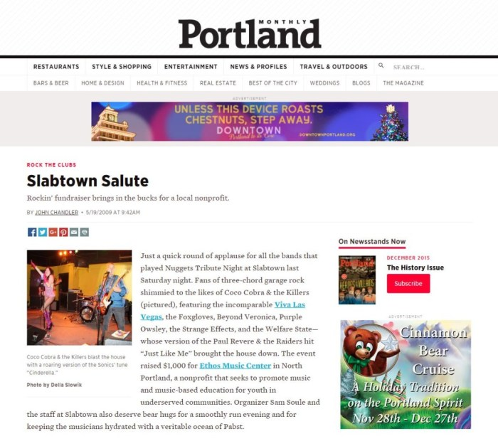 2009 Press The Portland Monthly