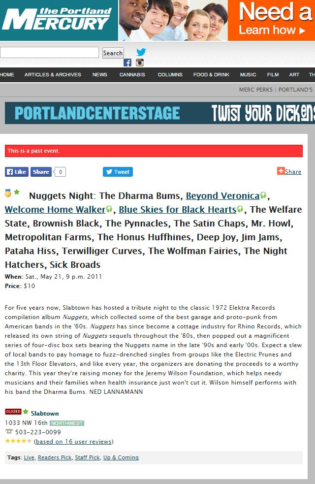 2011 Press The Portland Mercury