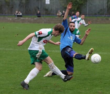 Dan puts in a block in midfield against Bognor
