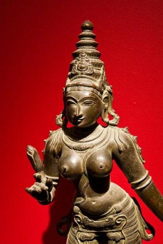 Bronze figure of Gauri (benevolent form of Pārvatī.)