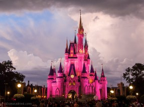 Cinderella's pink castle!