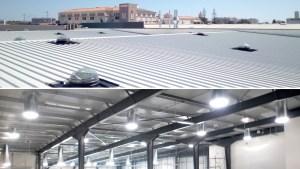 Eclairage industriel par conduit de lumière naturel