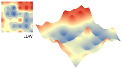 Interpolação com o método IDW