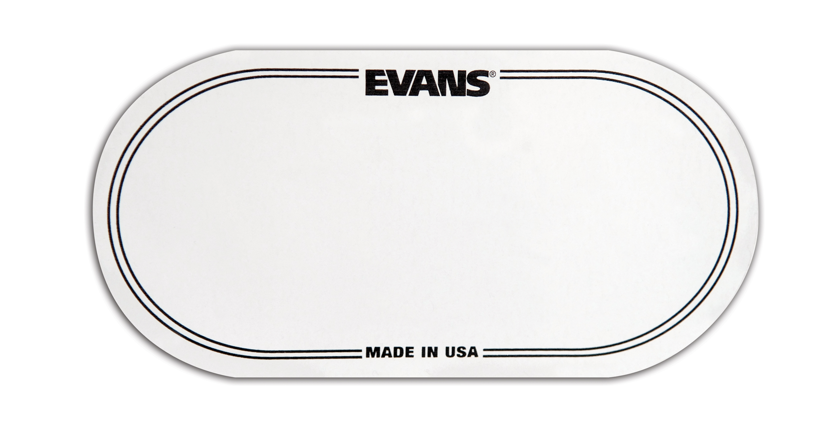 Evans Eq Double Pedal Patch Clear Plastic
