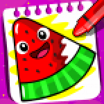 Fruits Coloring book Food Drawing book Kids Free 1.4 APK MODs Unlimited Money Hack Download for android