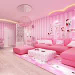 Pink Home Design Princess Girly Room 1.6.8 APK MODs Unlimited Money Hack Download for android