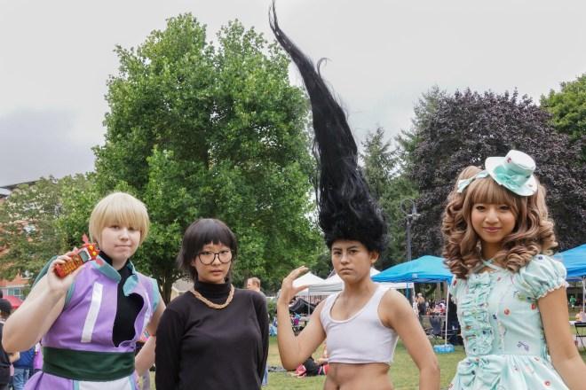 Kumoricon characters at Esther Park, Vancouver, Washington