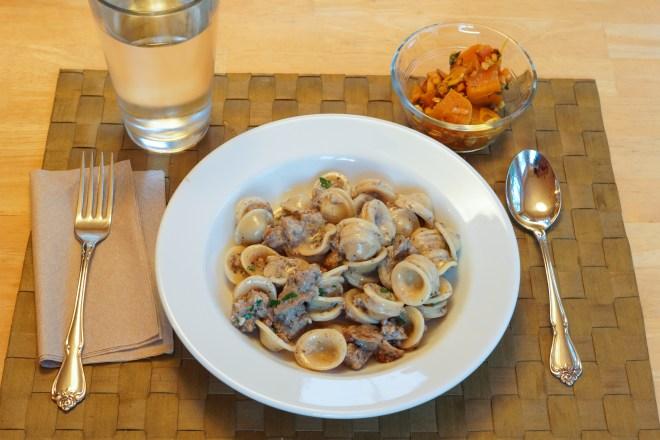 Dinner is served: Pasta Alla Norcina