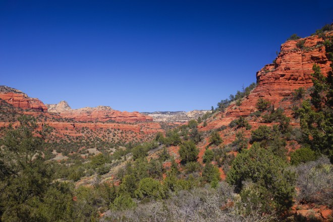View from the  Doe Mountain trail in Sedona