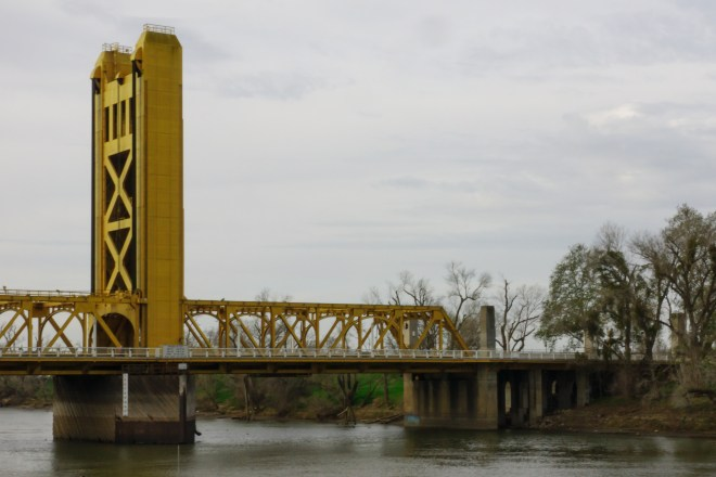 Bridge over the Sacramento river in Sacramento, California