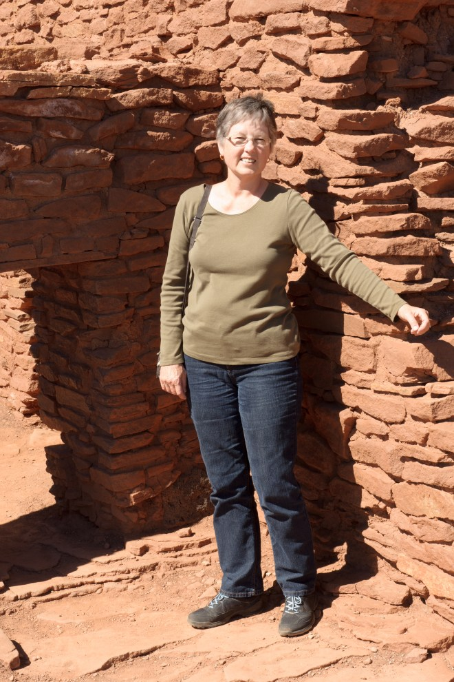Carla in a pueblo at Wupatki National Monument (yes we were allowed to get that close)