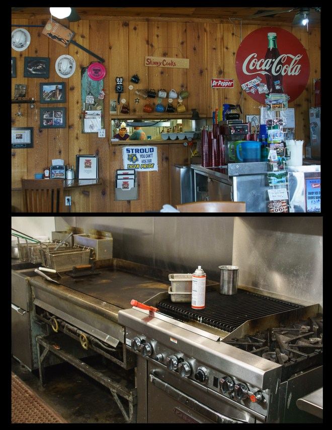 Interior of Rock Cafe in Stroud, Oklahoma
