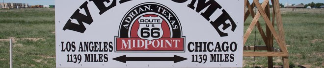 Route 66 midway sign banner photo