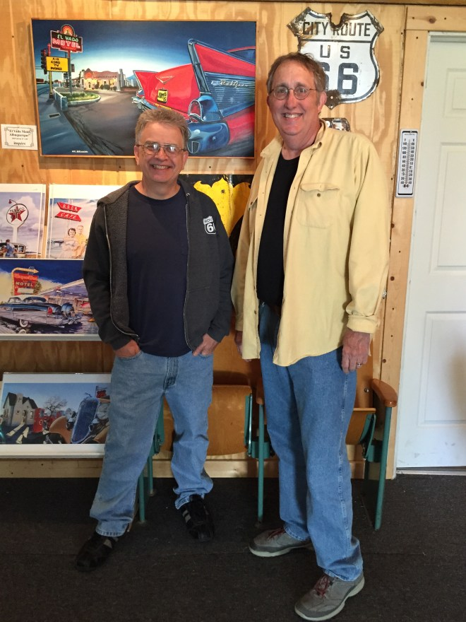 Jerry McLanahan and Howard in Chandler, Oklahoma