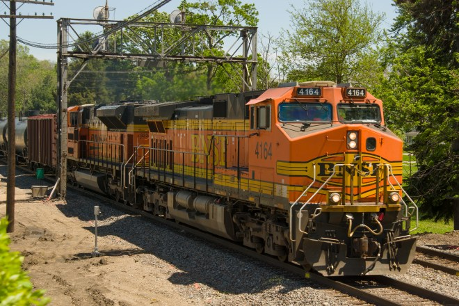 Westbound BNSF at Rochelle Railroad Park, Illinois